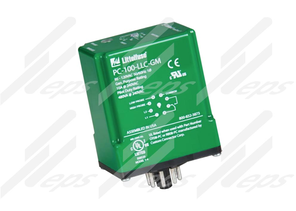Control de nivel de líquido. MotorSaver LittelFuse PC-100-LLC-GM y PC-200-LLC-GM.